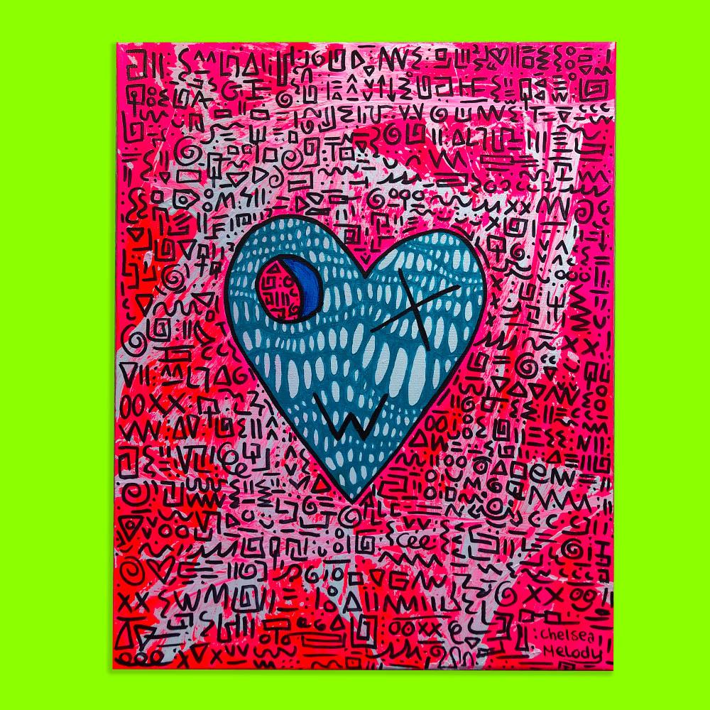 Hyperactive Heart Canvas 40 X 50 Cm Chelsea Melody